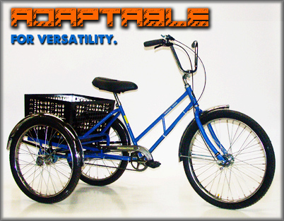 Adaptable industrial tricycles from worksman cycles